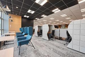 執務エリア:多様なワークプレイスを機能的で使いやすいオフィス空間